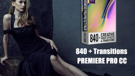 دانلود 840 ترنزیشن پریمیر : STUDIO 640 - 840 TRANSITIONS PACK FOR PREMIERE PRO
