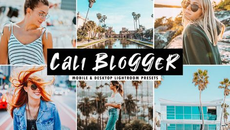 دانلود پریست لایت روم و Camera Raw و اکشن: Cali Blogger Mobile Desktop Lightroom Presets