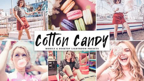 دانلود پریست لایت روم و Camera Raw و اکشن: Cotton Candy Mobile Desktop Lightroom Presets