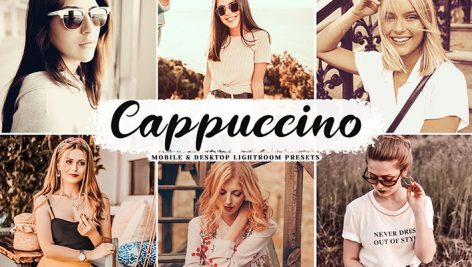 دانلود پریست لایت روم و Camera Raw و اکشن: Cappuccino Mobile Desktop Lightroom Presets