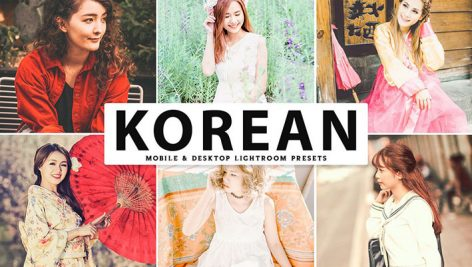 پریست لایت روم و Camera Raw و اکشن تم کره Korean Mobile And Desktop Lightroom Presets