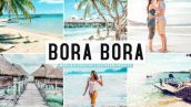 پریست لایت روم و پریست کمرا راو تم باد شمالی Bora Bora Lightroom Presets Pack Graphic